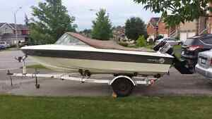 SUNRAY BOAT, TRAILER AND MOTOR