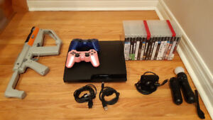 PlayStation3 (PS3) with games and accessories