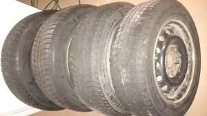 Set of 4 Michelin Ice-X 195/65R15 used on 2008 Mazda 3