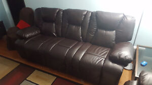 Chevalier II' Bonded Leather Motion Sofa 3 seats Kitchener / Waterloo Kitchener Area image 2