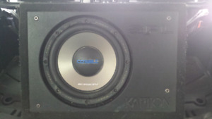 """Orion 10"""" sub in slot ported box"""