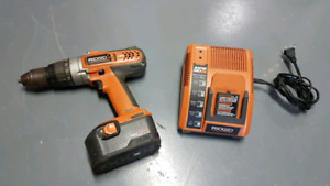 Ridgid 18v drill with charger.