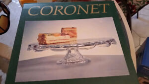 Coronet 12 Inches Glass/Crystal Cake Stand