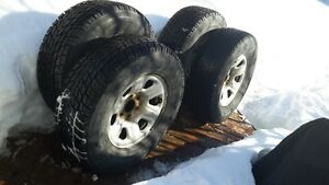 Tires & rims for pick-up truck