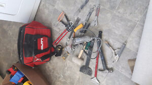 Various tools and carry bag
