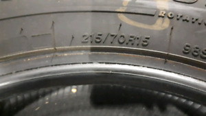 4 winter tires 215/70r15