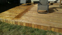 Decks Starting at $19sqft (block footing/ platform floating deck