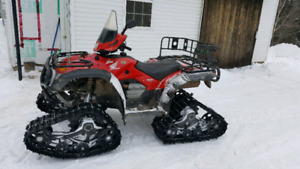 2006 Honda foreman 500 with kimpex commander tracks and and plow