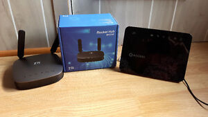 2 ANTENNES  WI-FI  pour signal INTER-NET
