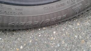 (4) P235/55R17 Goodyear Notdic Winter Tires on Saturn Wheels St. John's Newfoundland image 2