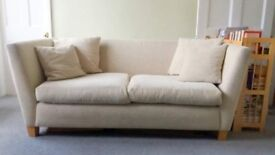Cream sofa from John Lewis
