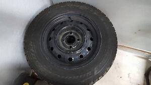 4 GOODYEAR NORDIC WINTER TIRES WITH RIMS Windsor Region Ontario image 3
