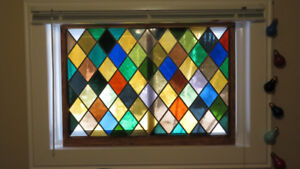 *** Antique Stained Glass Window / 1800`s ***