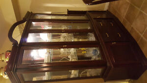 Dining room cherry Buffet and Hutch for sale