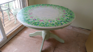 Hand-painted table