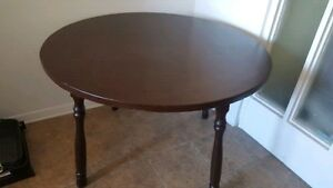 Chocolate brown solid wood table