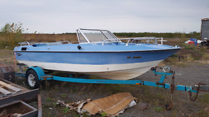 Project boat or parts boat + trailer .