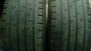 Two Continental 215 55 18 all season tires