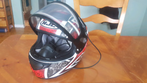 HJC Snowmobile Helmet with heated visor (size large)