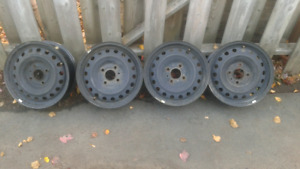15 inch 4 bolt steel rims