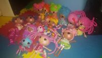 huge lot of lalaloopsy dolls some pets