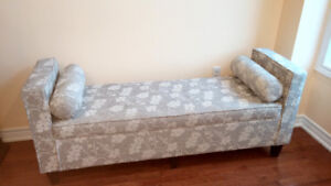 Upholstered Bench Storage Ottoman Bedfoot
