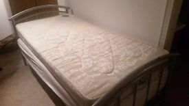 Single Metal Bed (With X2 Single Mattresses)