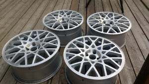 """17"""" Rotiform BLQ's for sale 4*100 refinished with rubber"""