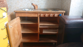 Children's Wooden Play Kitchen with Pans, and lots of Play Food