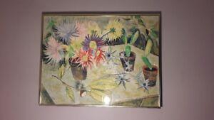 Large Numbered vintage framed print, 20$