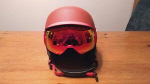 Lunette de ski avec verres interchangeables + Casque