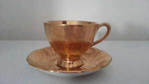 Royal Winton footed teacup and saucer