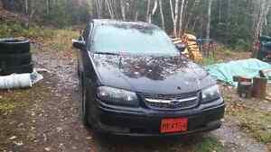 2004 Chevrolet Impala Black and grey Sedan
