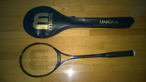 SQUASH RACKET WITH CARRY BAG/CASE - MANTA XL