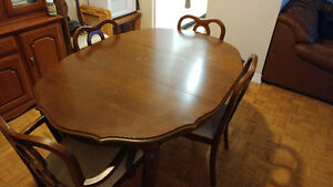 Antique dinning table with china cabinet Kingston Kingston Area image 1