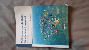 manuel scolaire: Méthodes quantitatives en sciences humaines