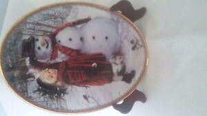 Collectible Christmas plate