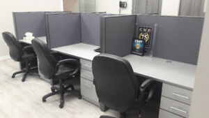 Custom Built Workstations with 6 Chairs