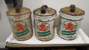 SUPERTEST 5 GALLON OIL CANS X3