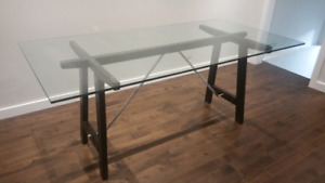 For Sale Structube Glass Dining Table -- $200 OBO