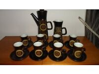 Denby Arabesque 1960's full coffee set for eight people (pristine)