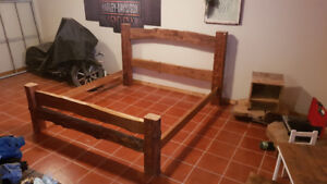 Reclaimed king bed