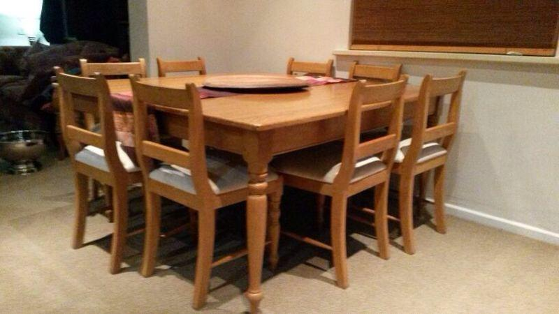 Table Chairs Oak Desk Dining Room 8 Seater Coneytimbers Solid Rustic