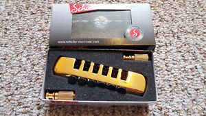 Schaller Fine Tuning Tailpiece – Gold Finish