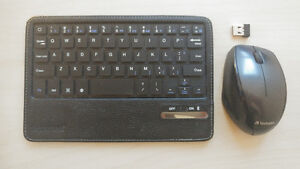 Wireless VERBATIM Mouse and Bluetooth HIPSTREET Keyboard