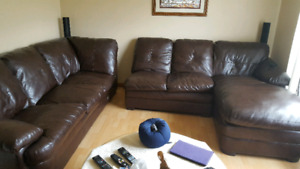 Faux leather sectional for sale
