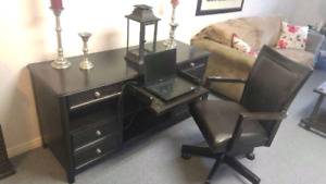 Ebony Desk and chair