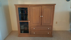 Solid wood entertainment center London Ontario image 1