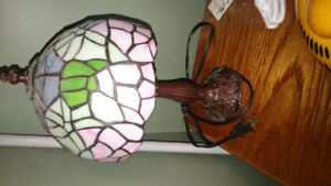 small tabletop Tiffany style lamp