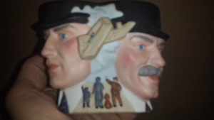 mug with Wright brothers faces